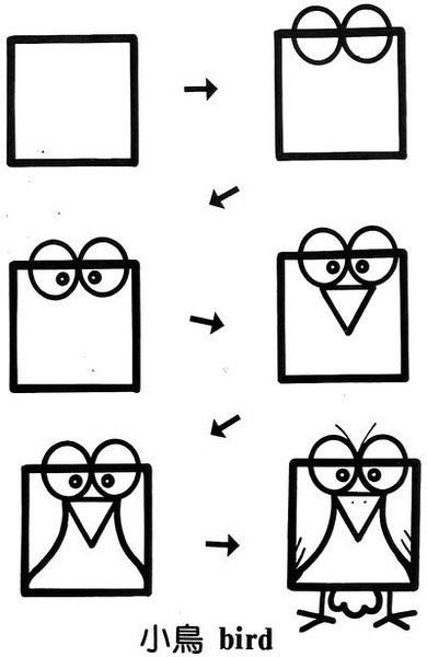 6岁孩子的简笔画,很简单,可以学学