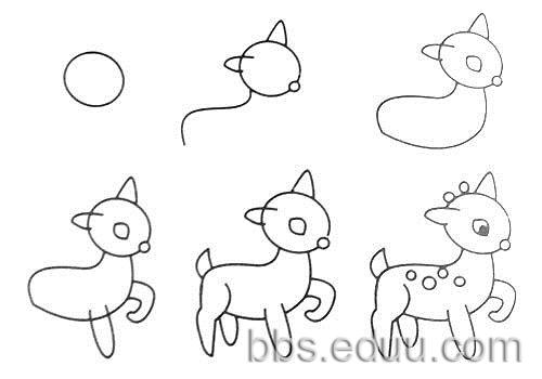 学学简单的画画,以后教孩子