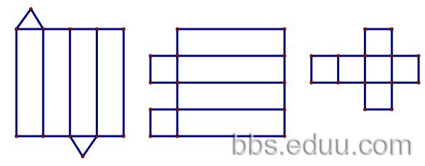异棱柱纸盒自锁底结构展开图