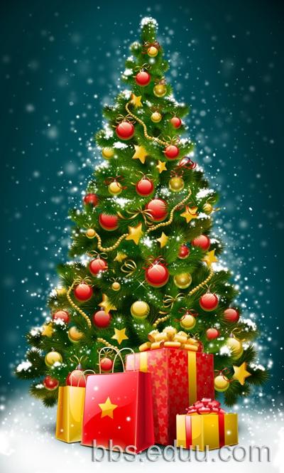 圣诞树 室外 素材