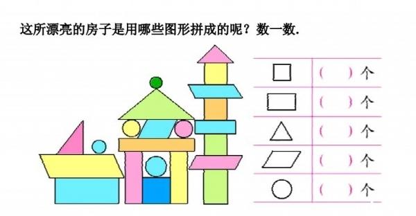 房子组合可爱简笔画