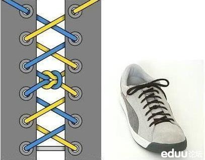 反系鞋带图解步骤