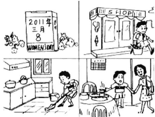 小学一, 二年级 《 看图写 话》家长指导经验分享帖-小学二年级看图写
