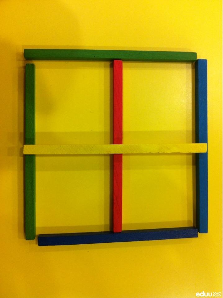 六根牙签摆出5个正方形