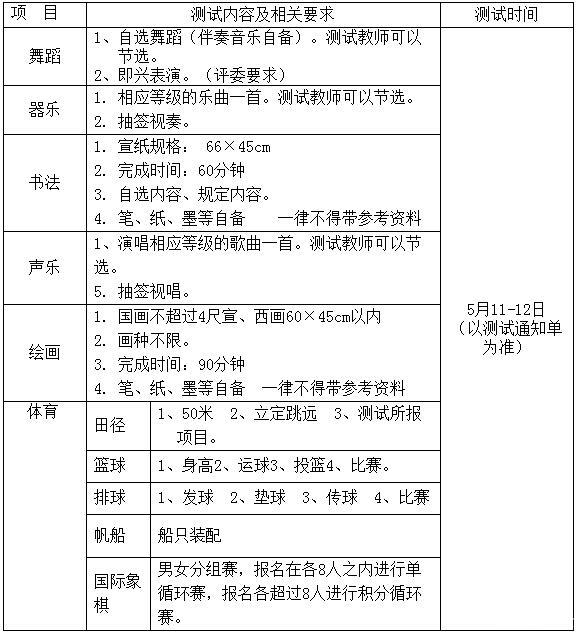2013年青岛第二十六中学特长生招生简章