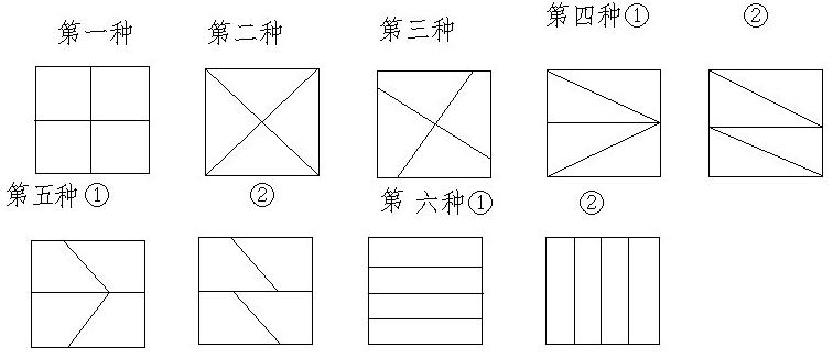 长方形四等分