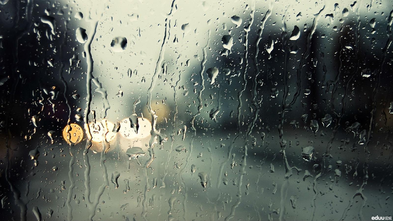天气预报说有雨雨天