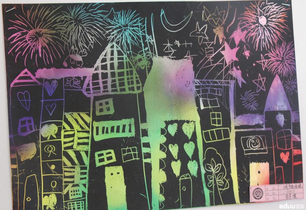 【校园新闻】精诚实验幼儿园育慧里园绘画手工作品展