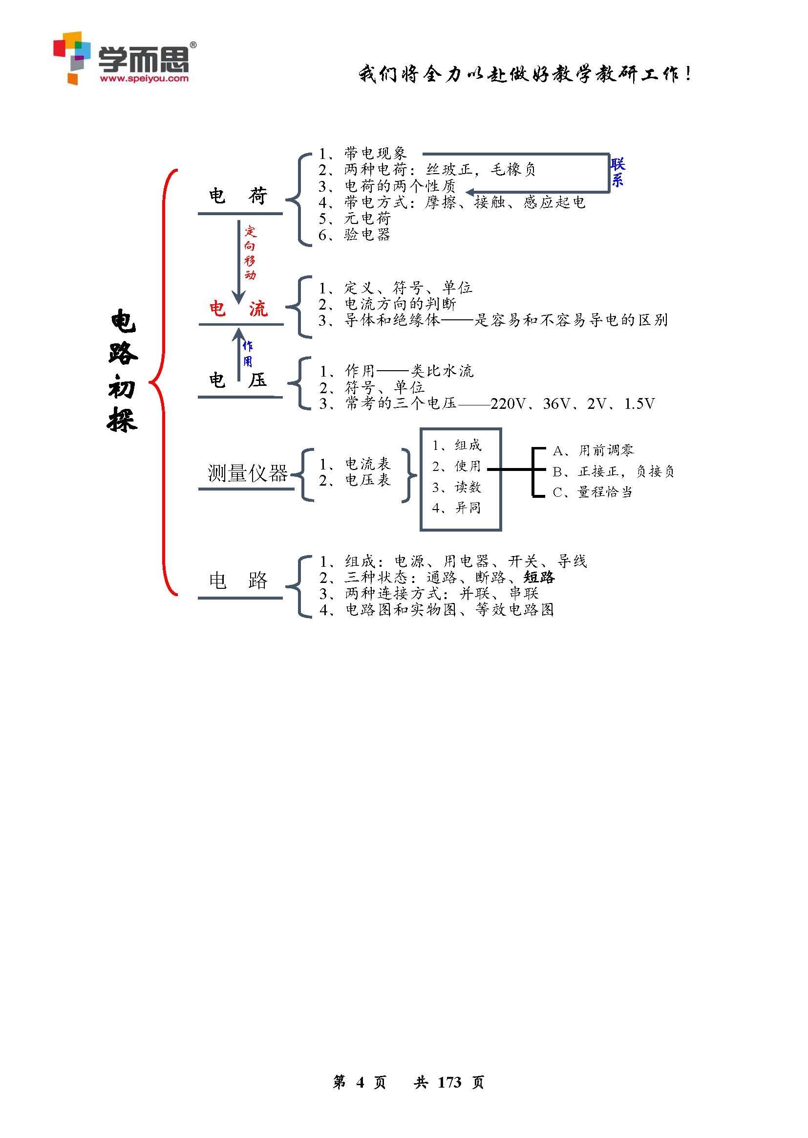 九年级物理电路教案