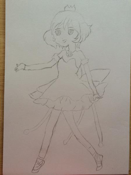 晒晒女儿的铅笔画