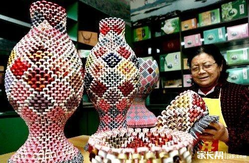 【物理制作】废物利用手工制作:用扑克牌制作花瓶