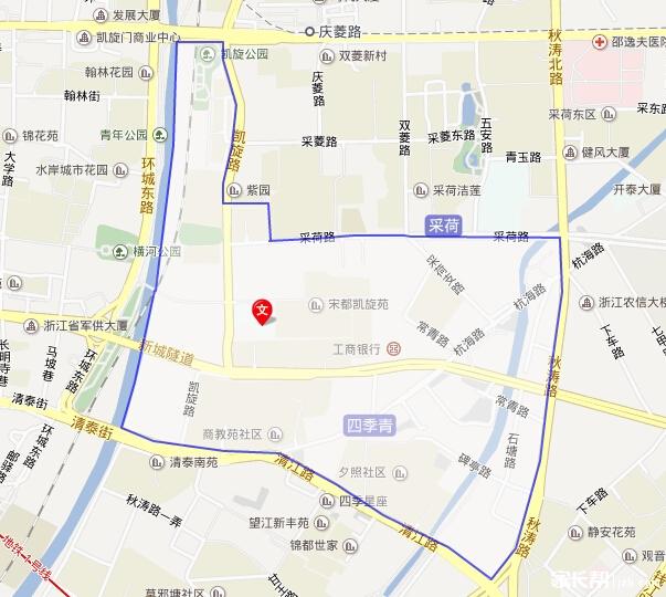 2014杭州公办小学对口分布(地图版)--江干区