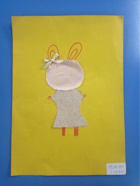 活动 孩子们的布贴画作品