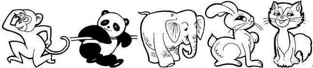 看图写话小动物们聚会图片