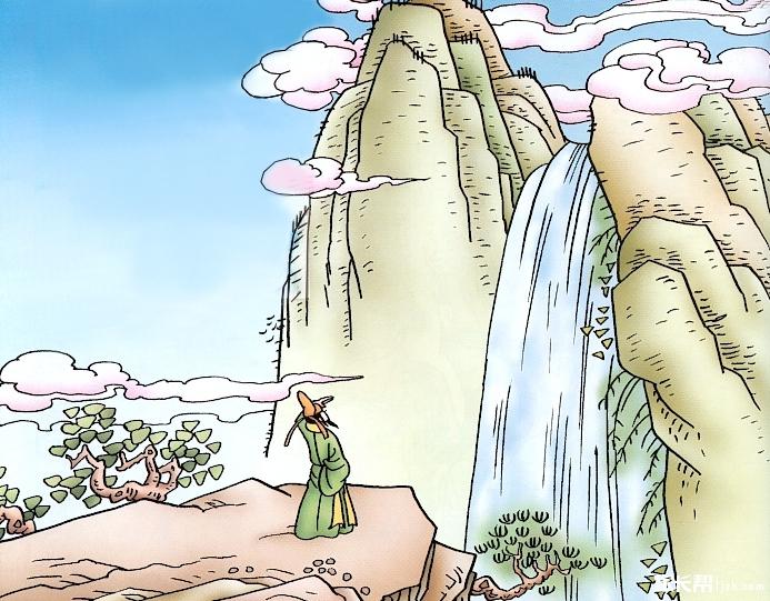 小编寄语: 《望庐山瀑布二首》是唐代大诗人李白创作的两首诗,一为五