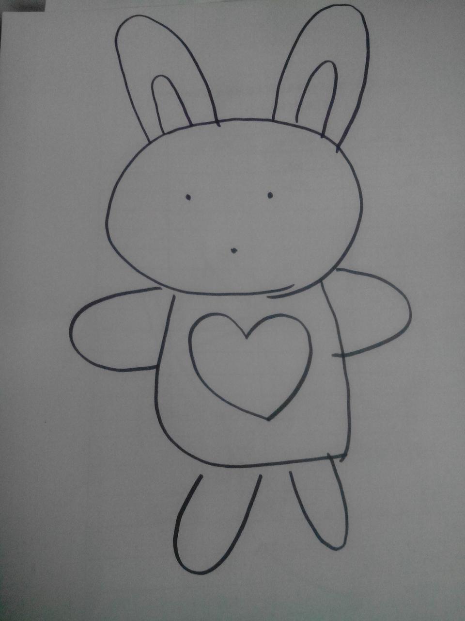一年级美术小兔子画画