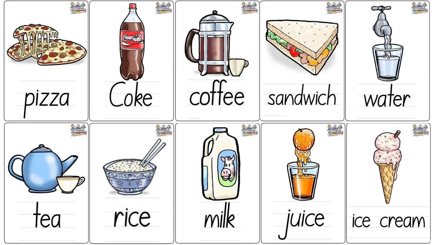 牛爸牛妈自己做的单词卡片(二)-食物,动物,颜色,建筑
