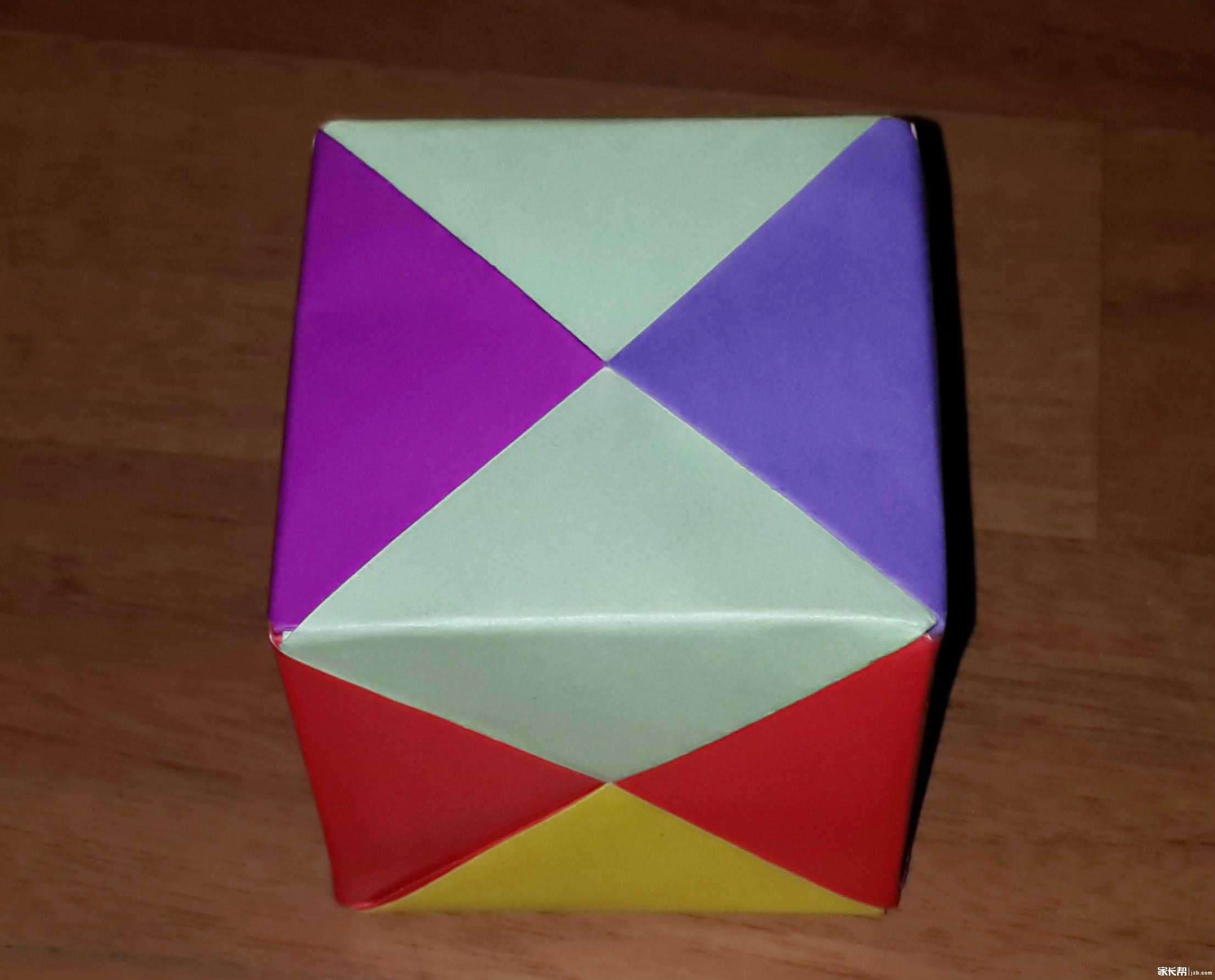 用冰棍棒做正方体的手工制作图