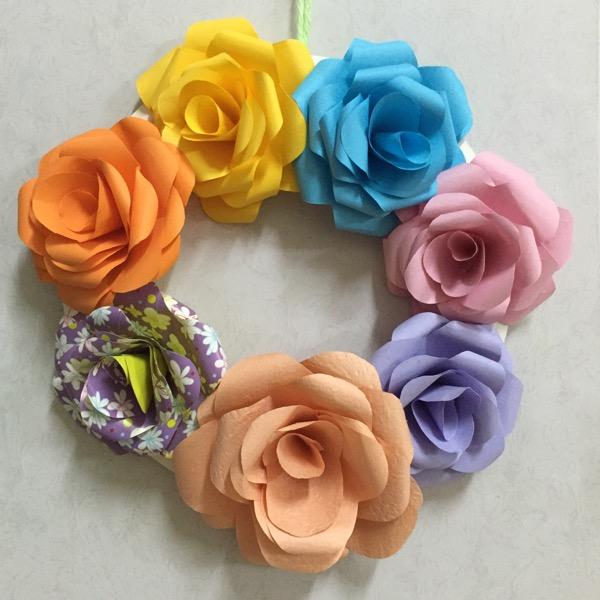 春天的花朵纸盘手工制作图片