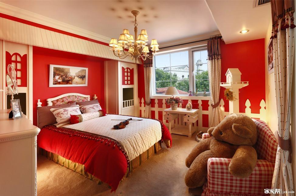 红色系列欧式儿童房