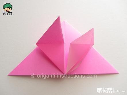 几种简单玫瑰花的折法图解!有空跟孩子一起折纸玩吧!
