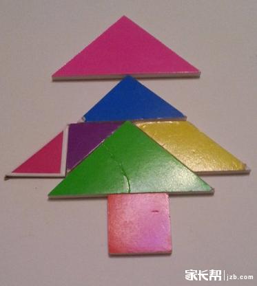 七巧板拼圣诞树图