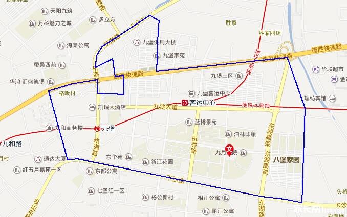 2015年杭州公办小学校区分布(地图版)-江干区