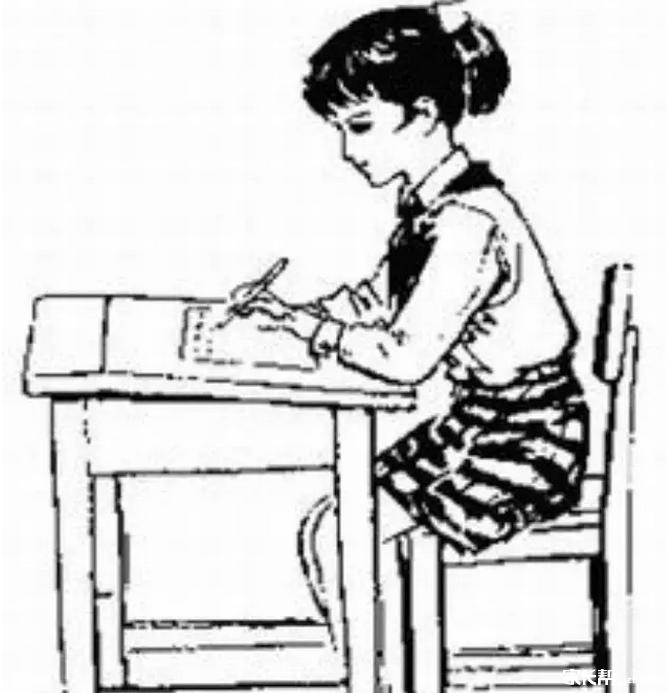 写字的简笔画图片_写字的简笔画