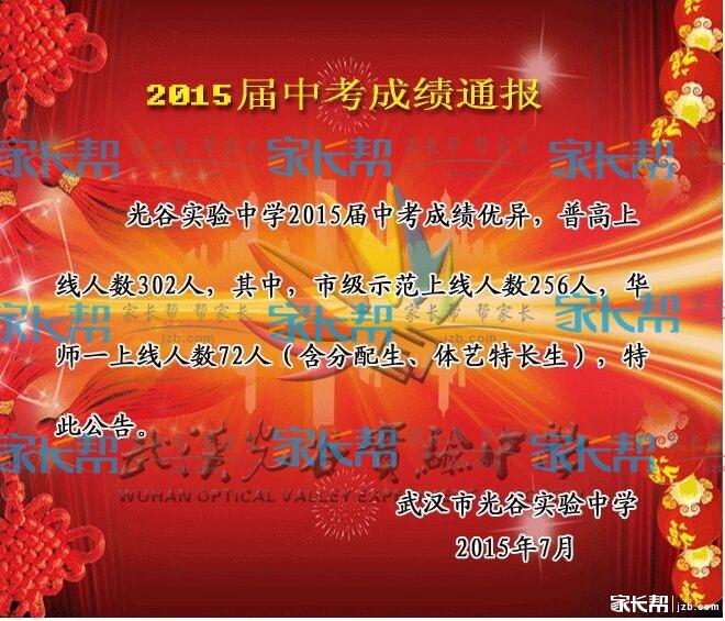 2015年武汉毕业各初中中考喜报及成绩中考(72015初中能兵汇总当吗自愿图片