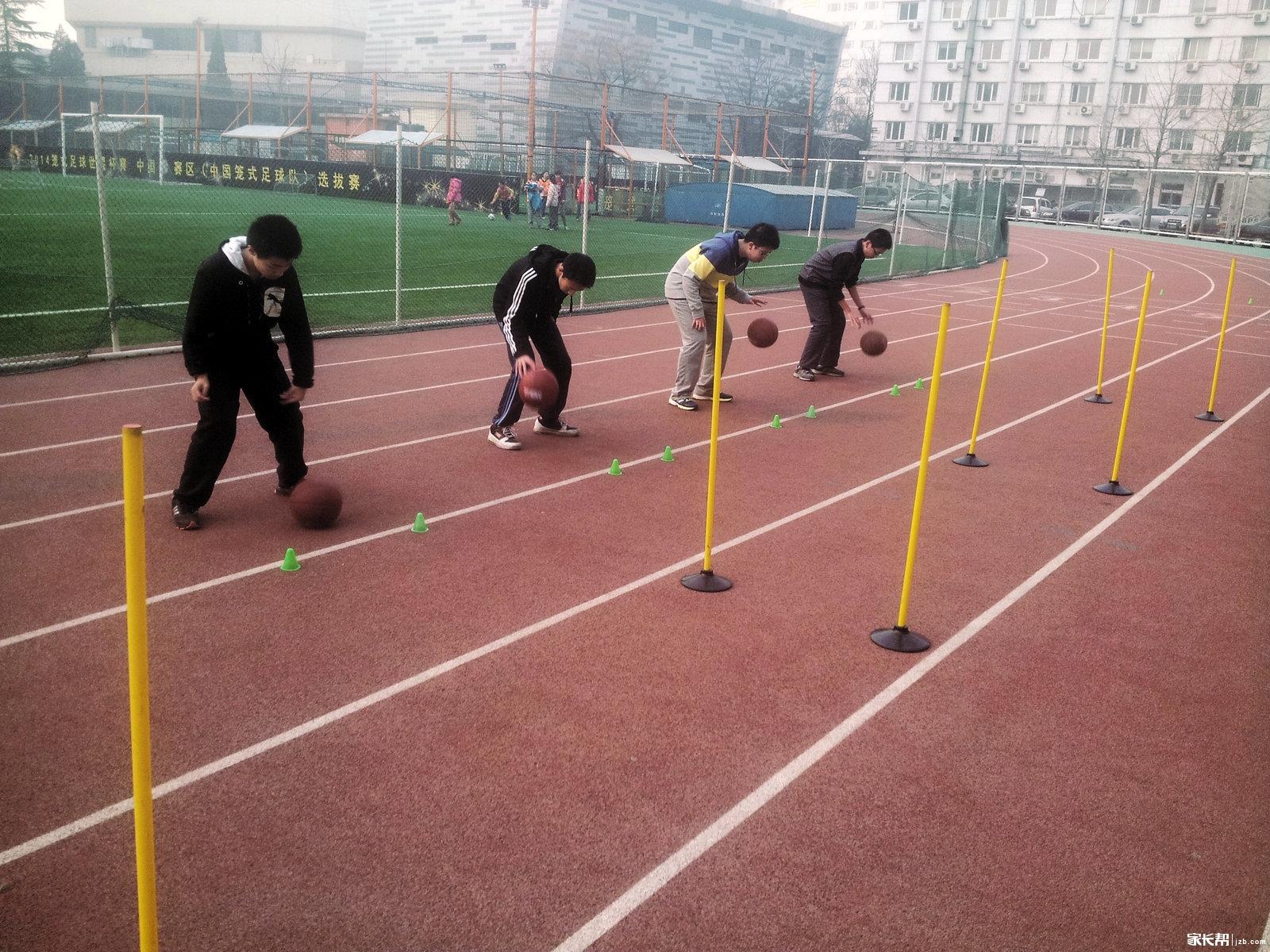 关于中考体育篮球绕杆的一些训练方法总结_初
