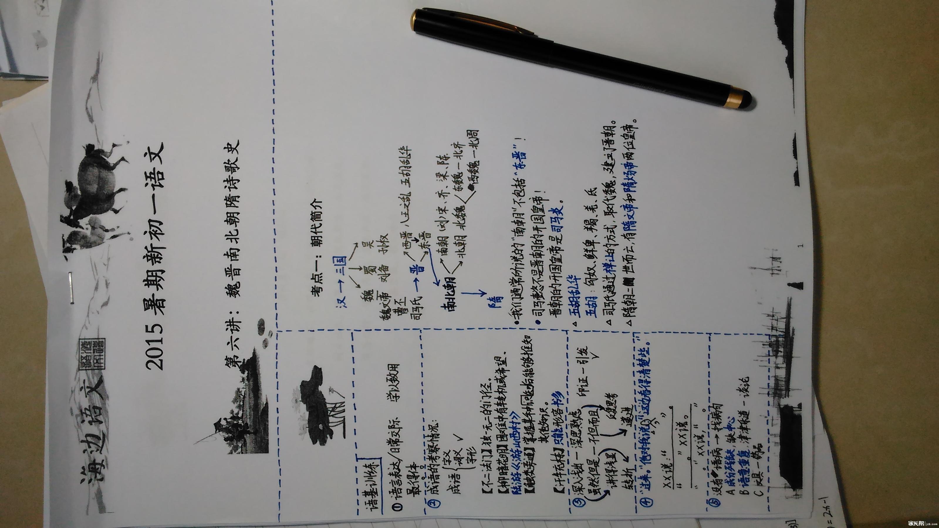 【海边语文】课堂笔记晒起来!深圳初中部官网实验图片
