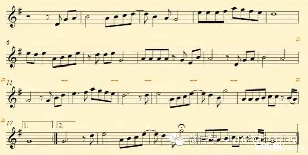 简单的横笛曲谱