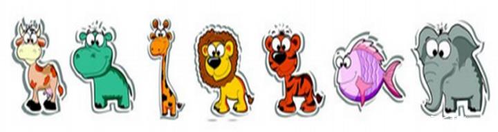2.哪个小动物排在最前面? 3.哪个小动物排在最后面?