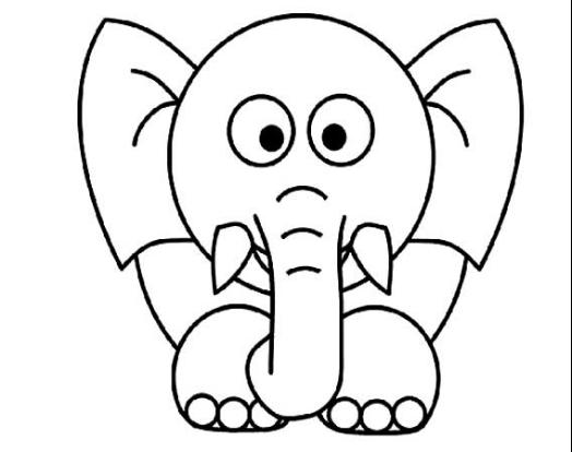 动物简笔画大全带颜色大象_森林动物简笔画大全带颜色