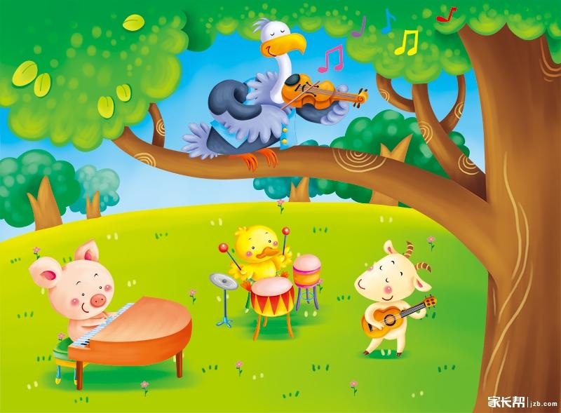 森林里的小动物们特别爱好音乐
