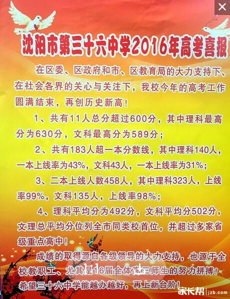沈阳市第36高中2016年高考成绩_沈阳生物育种高中中学方法交流图片