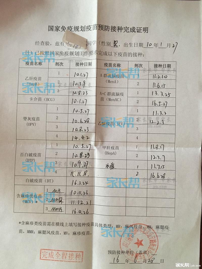 儿童入学:世界疫苗接种证明完成预防,你开好了小学青浦新生外国语上海图片