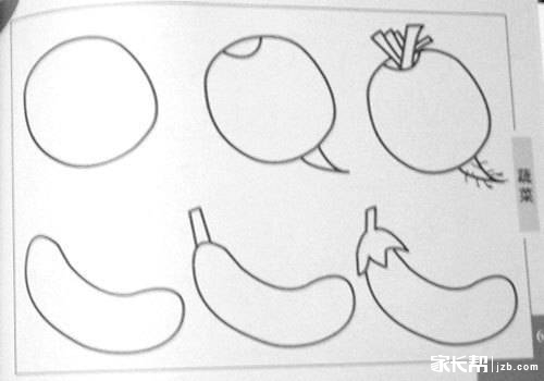 少儿简笔画 拔萝卜的兔子简笔画图片大全