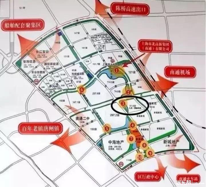 启秀市北学校位于港闸区上海市北高新(南通)科技城内,幸余路南,集贤路