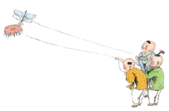 风筝制作步骤图片