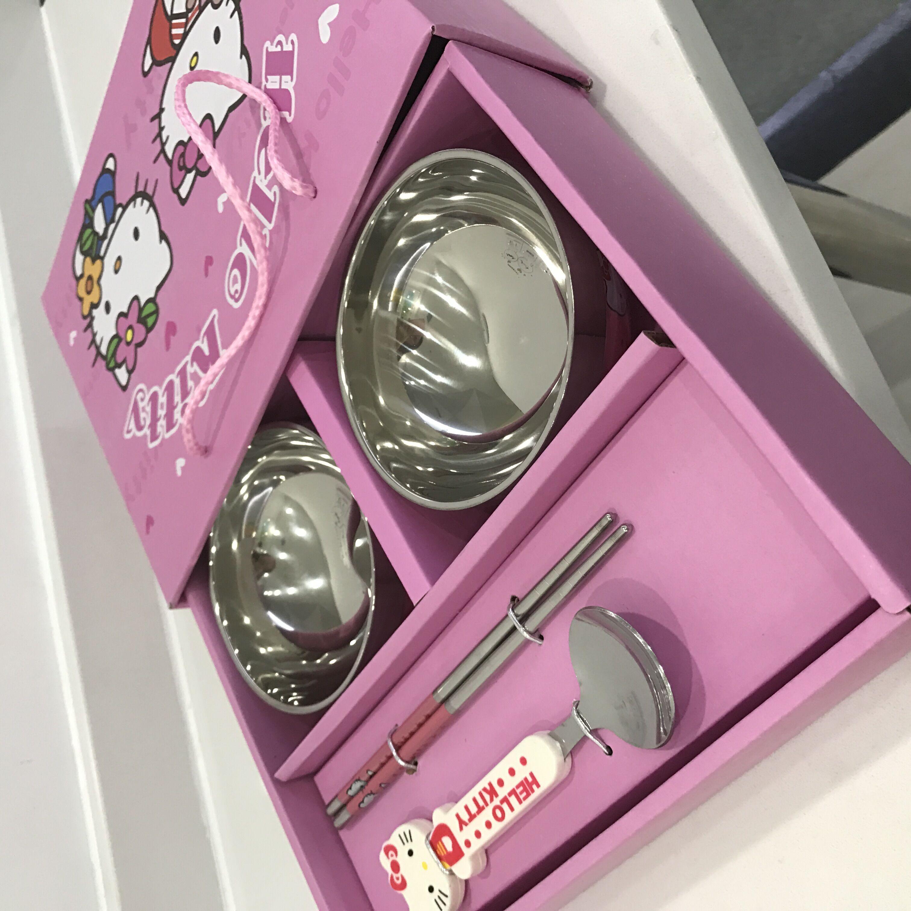 粉红Kity碗套装