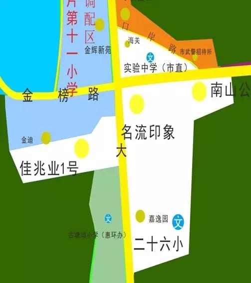 2017年惠州区中心区学区小学划分【龙丰】人教三古诗年级版小学图片