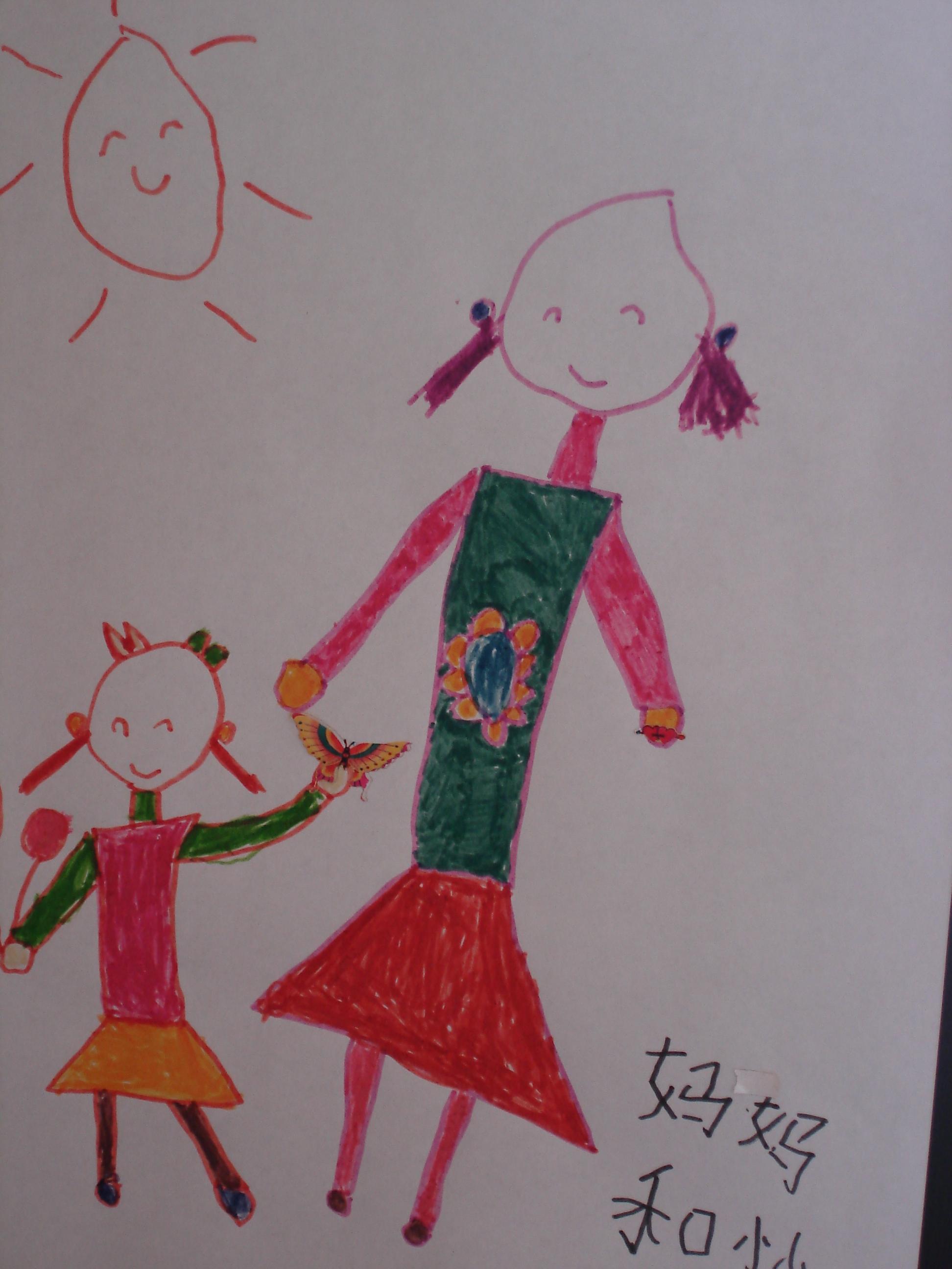 这是幼儿园时候的涂鸦