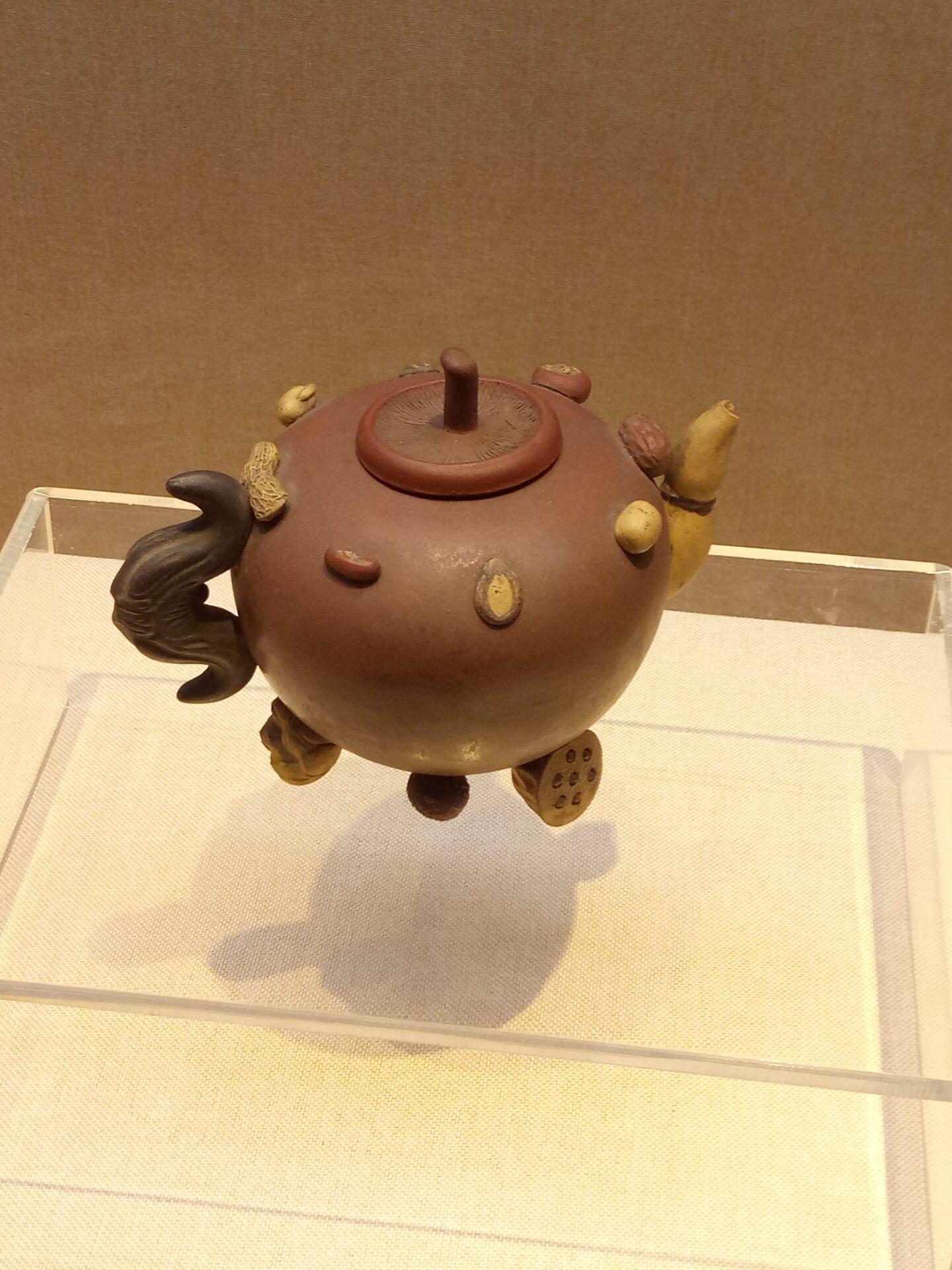 茶壶_木雕