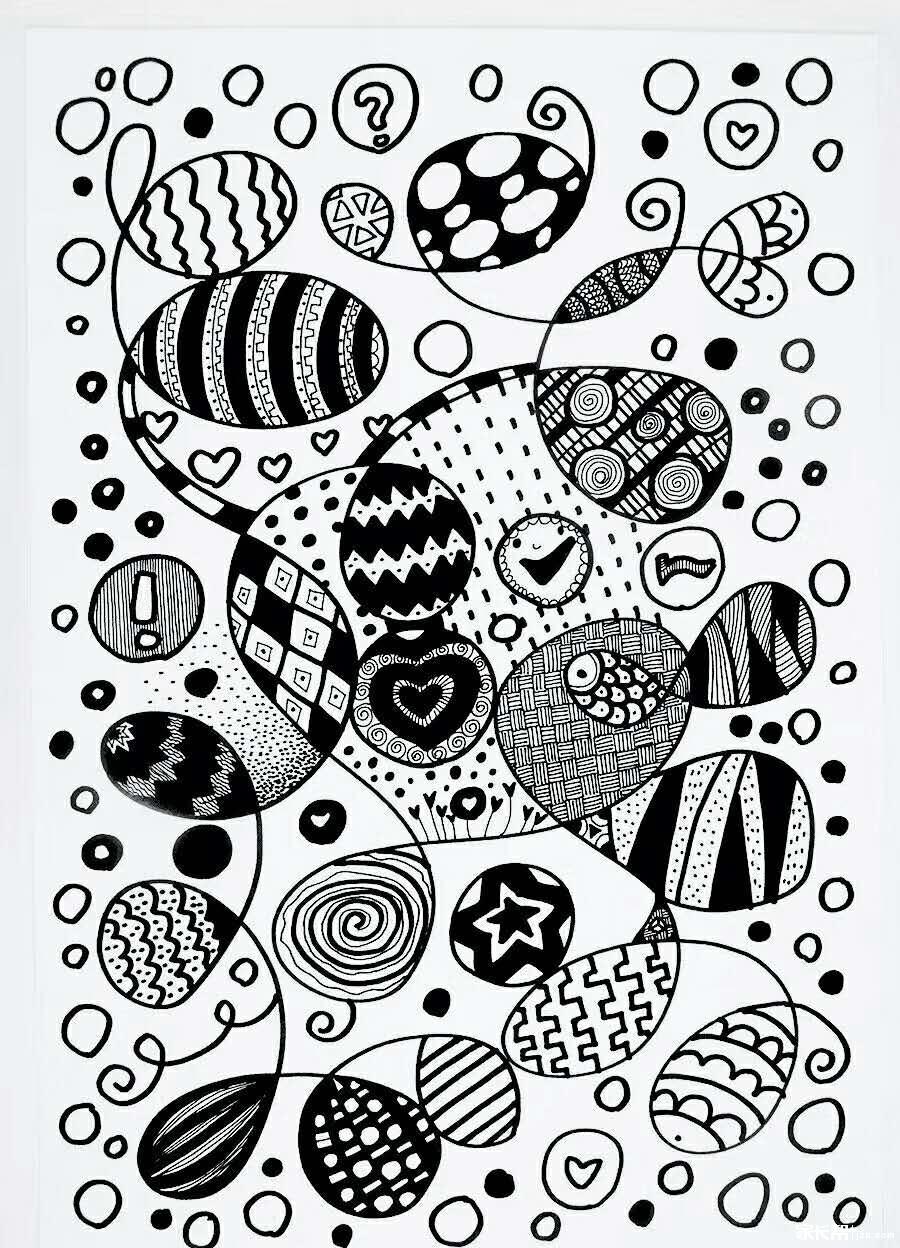 美术点线面教案_【免费学画画】电话线出发的点线面_创意美术_家长帮