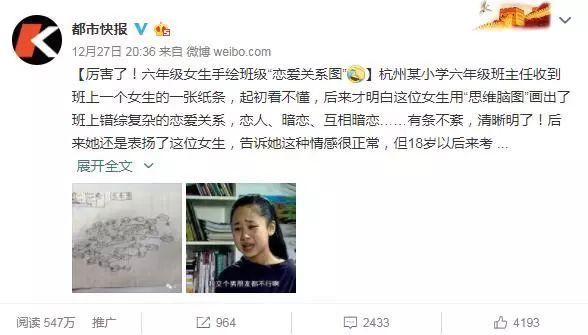杭州小学生的一张手绘班级男女生关系图,看完口呆目瞪!