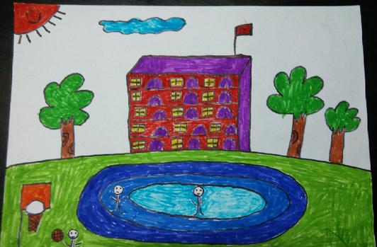 小小繪畫家精彩作品:我未來的母校